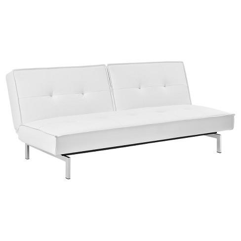 Premium Belle Convertible Futon White Dorel Home Products Target