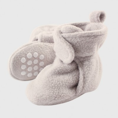 Luvable Friends Baby Fleece Booties - Gray 0-6M