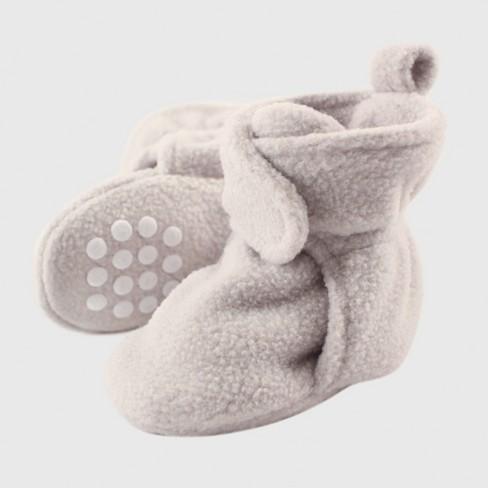 7157fd6e197d Luvable Friends Baby Fleece Booties - Gray   Target
