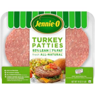Jennie-O All-Natural 93/7 Turkey Patties - 16oz/4ct