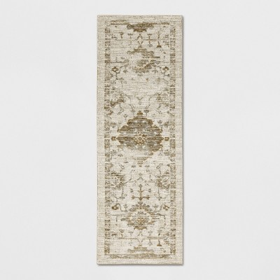 "2'4""X7' Runner Vintage Tufted Distressed Rug Tan - Threshold™"