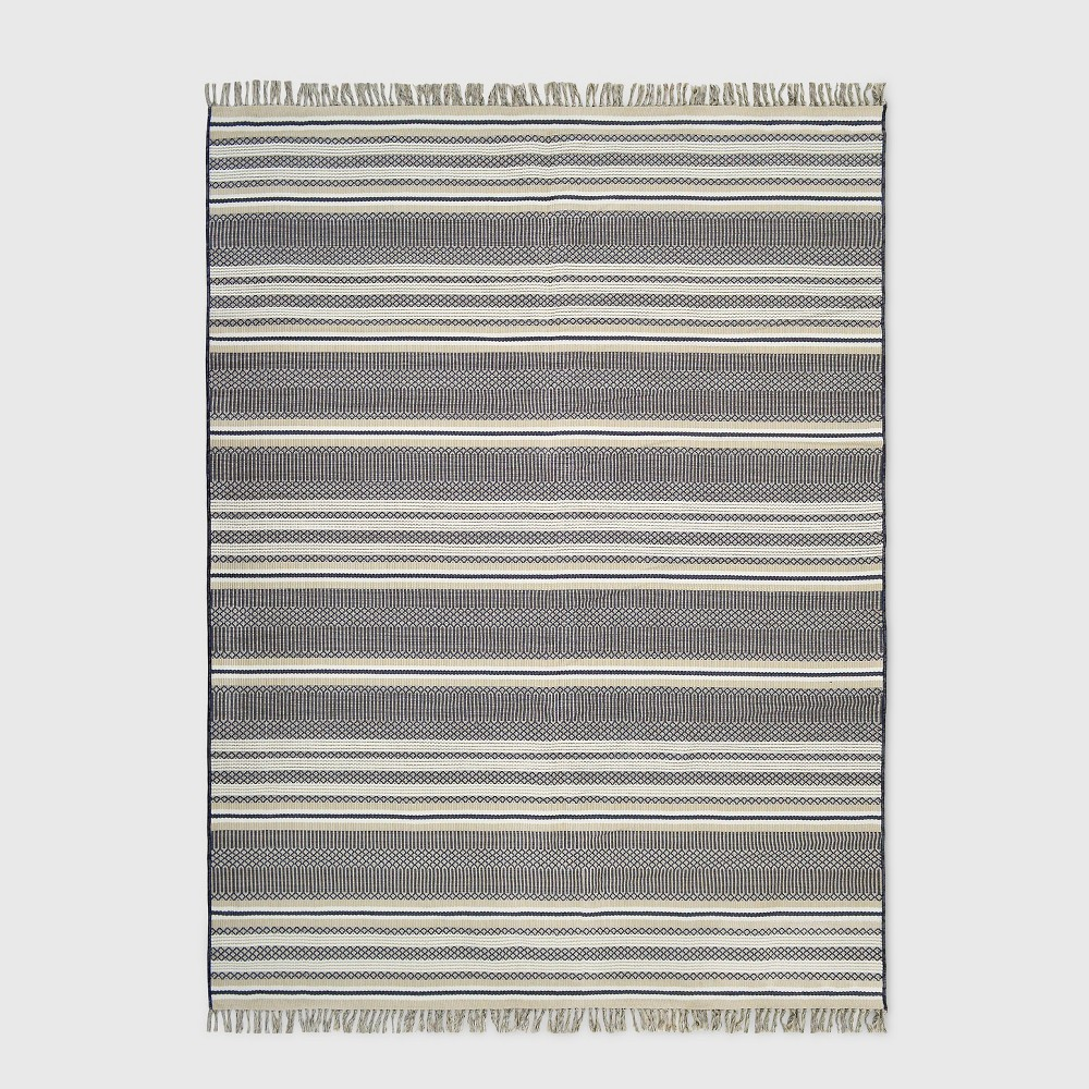 9' x 12' Global Stripe Outdoor Rug Neutral - Threshold