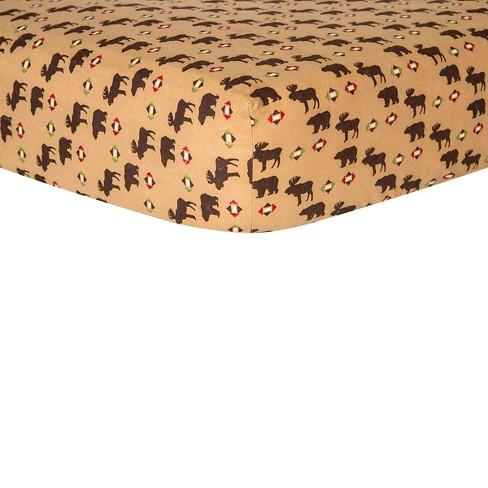 Trend Lab Northwood's Flannel Crib Sheet - image 1 of 2