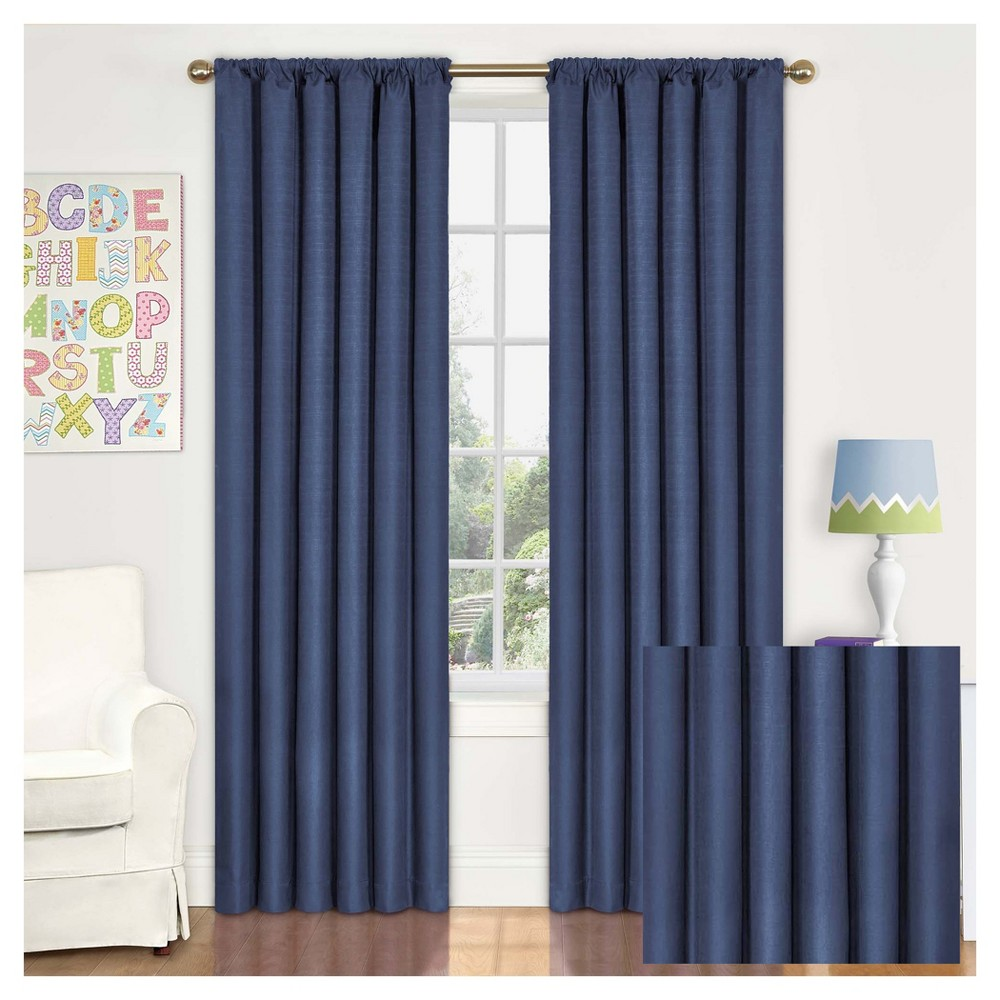 Kendall Blackout Thermaback Curtain Panel Blue (54