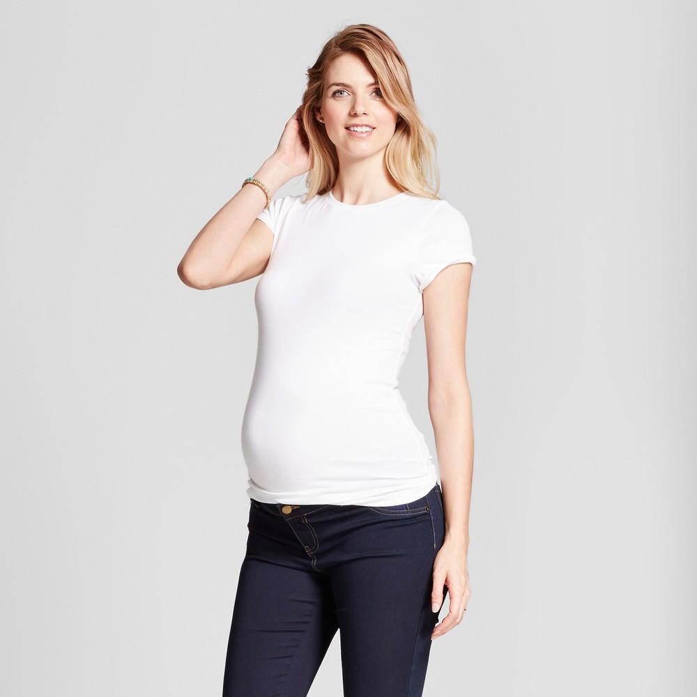 Maternity Short Sleeve Non Shirred T Shirt Isabel Maternity 8482 By Ingrid 38 Isabel 174 White L