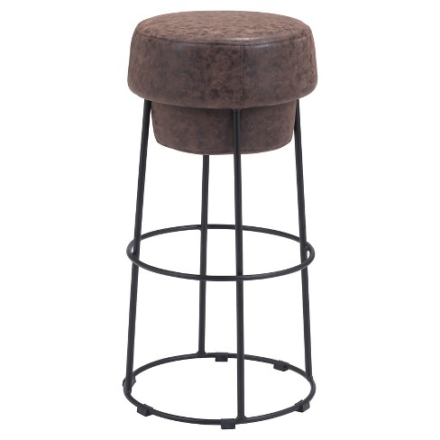 "Plush Distressed 29.5"" Barstool - Natural - ZM Home - image 1 of 3"
