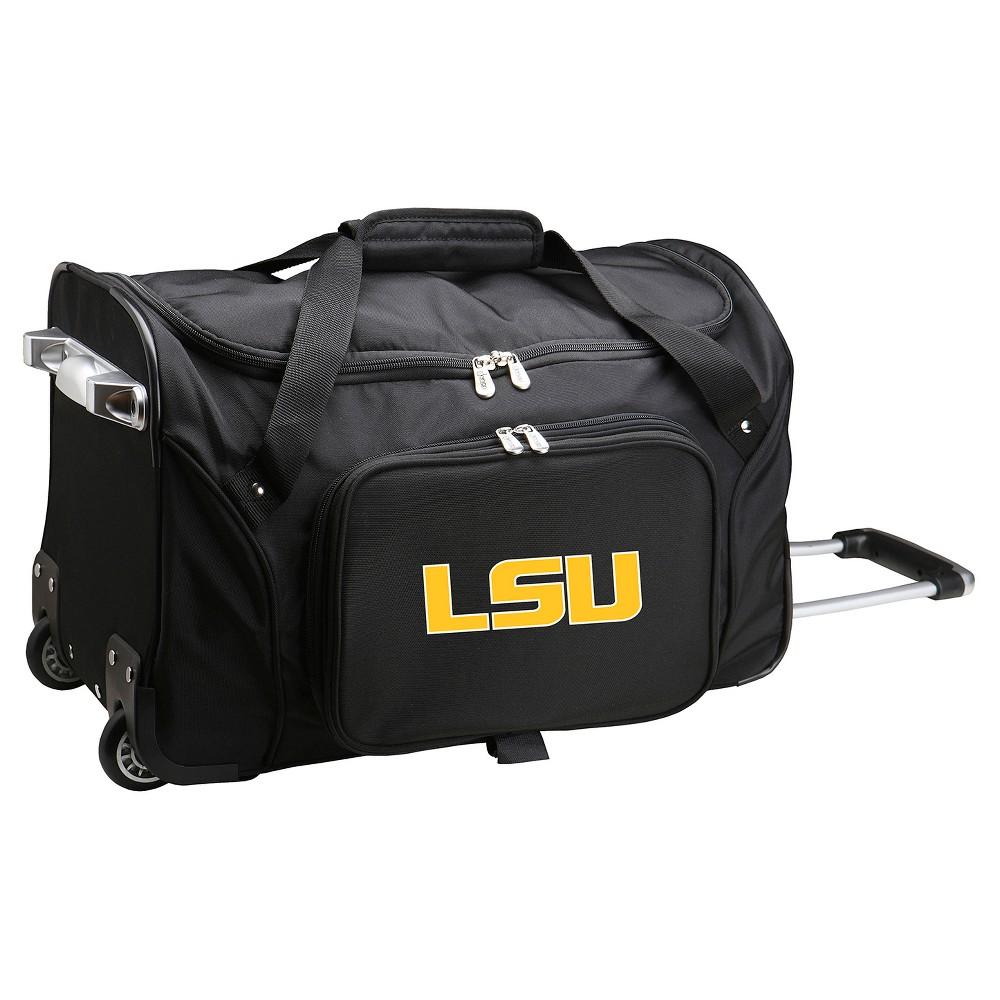 NCAA Lsu Tigers 22'' Rolling Duffel Bag, Purple/Gold