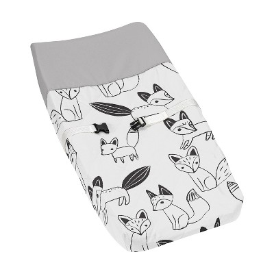 Sweet Jojo Designs Changing Pad Cover - Fox - Black/White