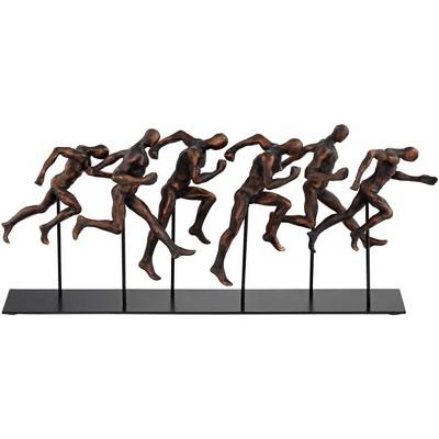 "Dahlia Studios Marathon 17 3/4"" Wide Metal Sculpture"