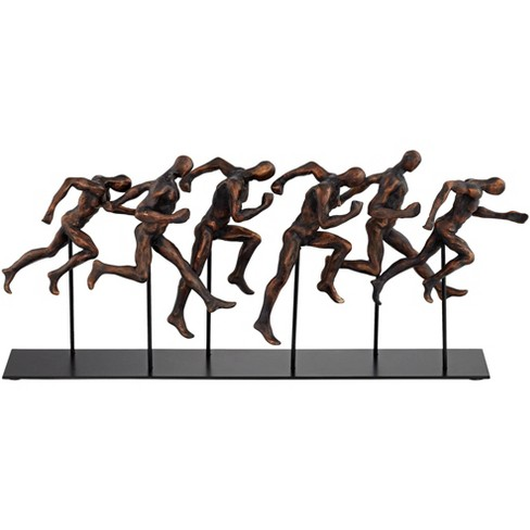 "Dahlia Studios Marathon 17 3/4"" Wide Metal Sculpture - image 1 of 4"