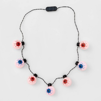 Light Up Eyeballs Necklace Halloween Party Favors - Hyde & EEK! Boutique™