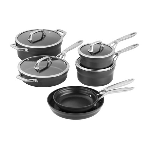ZWILLING Motion Hard Anodized 10-pc Aluminum Nonstick Cookware Set - image 1 of 1