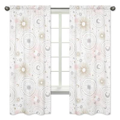 Sweet Jojo Designs Window Panels - Celestial - 2pk Pink/Gold