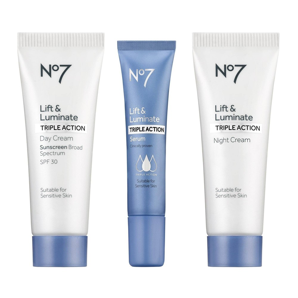 No7 Lift Luminate Triple Action Travel Set 3ct