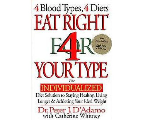 Eat Right For Your Type The Individualizedt Solution To Staying Healthy Living Longer Achieving Target