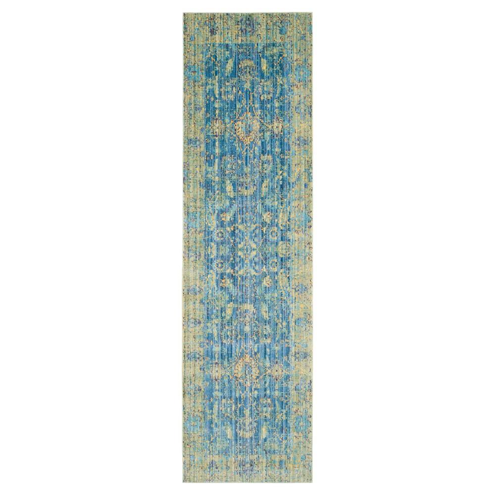 Barrow Runner - Blue / Multi ( 2' 3 X 8' ) - Safavieh
