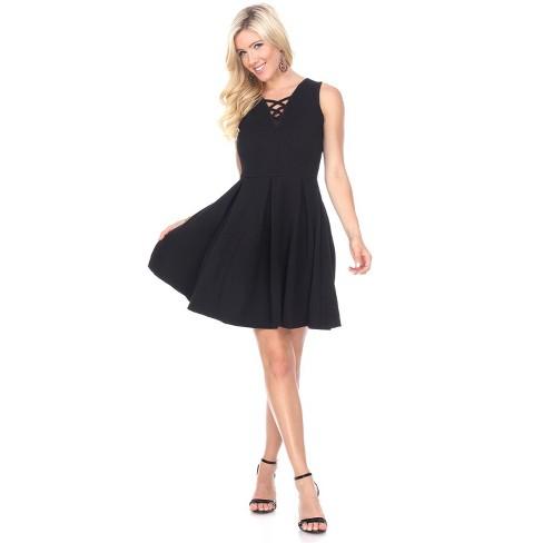 Women's Shay Sleeveless Fit & Flare Dress - White Mark - image 1 of 3