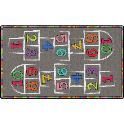 3'x5' Rectangle Indoor and Outdoor Numbers Nylon Accent Rug Multicolored - Flagship Carpets
