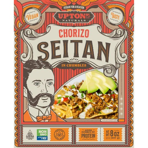 Upton's Naturals Vegan Chorizo Seitan Crumbles - 8oz - image 1 of 4