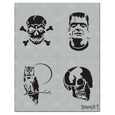 "Stencil1 Halloween Multipack 4ct - Stencil 8.5"" x 11"""