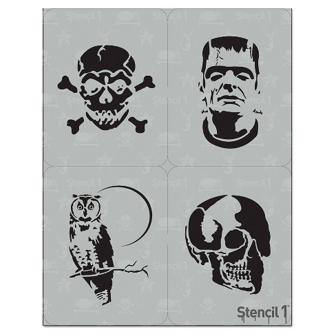 "Stencil1® Halloween Multipack 4ct - Stencil 8.5"" x 11"" - image 1 of 3"