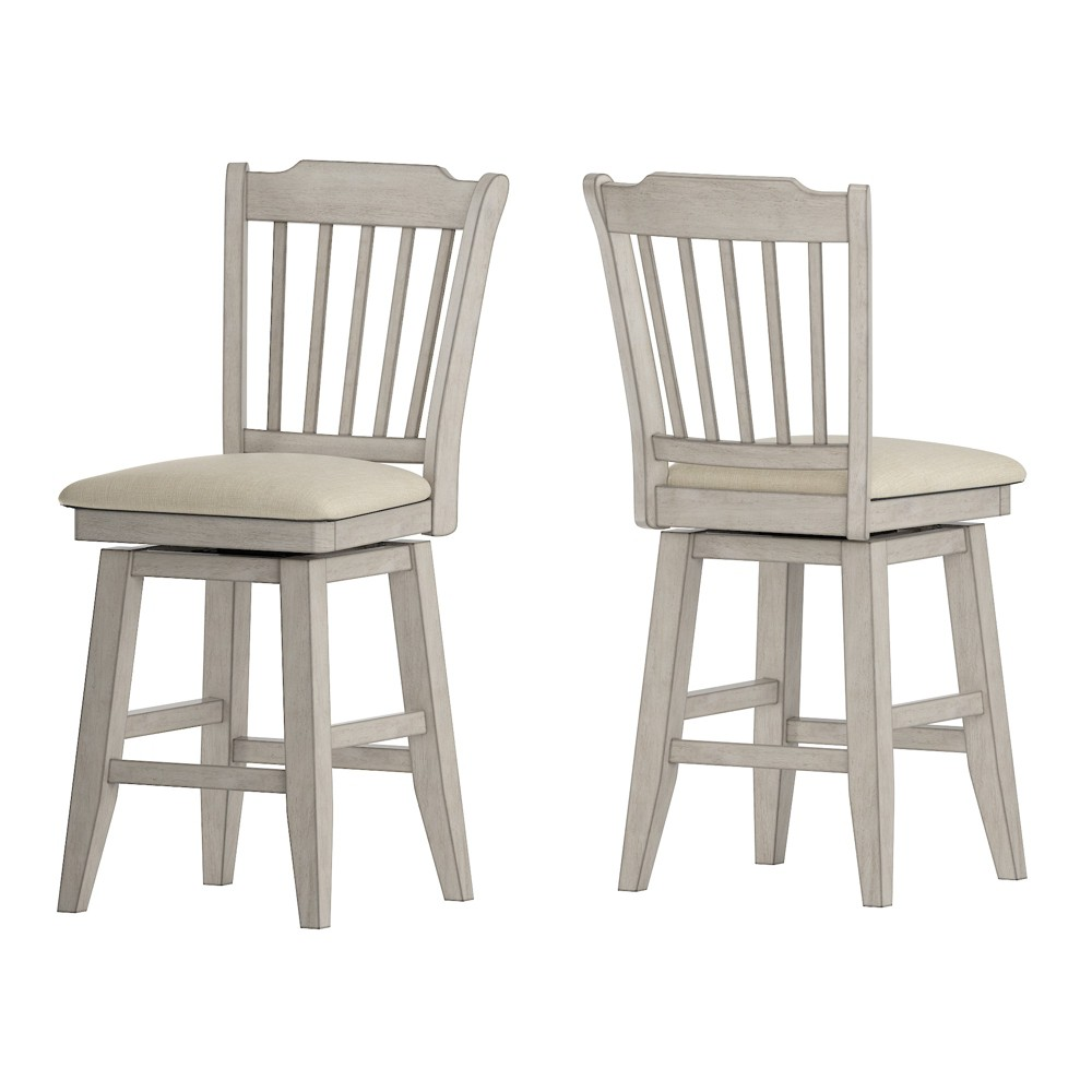 """Image of """"24"""""""" South Hill Spindle Back Swivel Counter Height Chair White - Inspire Q"""""""