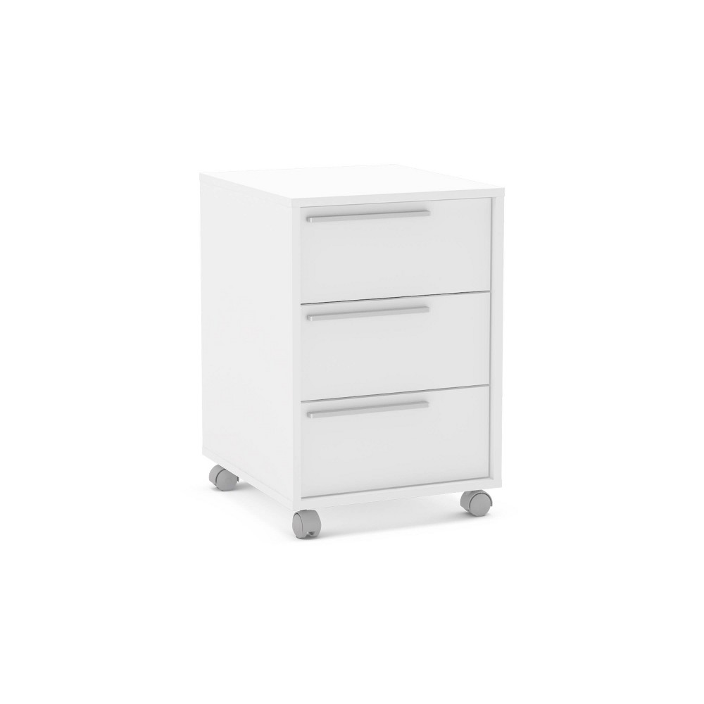 Image of Oxford 3 Drawer File Cabinet White - Chique