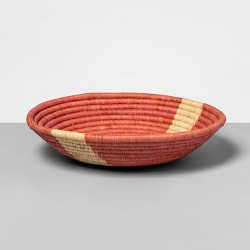 """12"""" x 4.7"""" Hand Woven Raffia Bowl Pink - All Across Africa for Opalhouse™"""