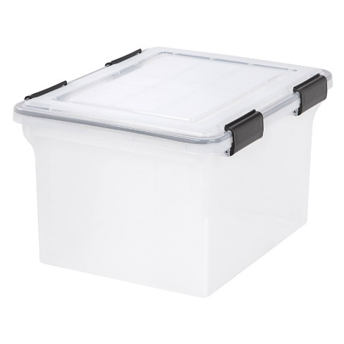 IRIS 4pk Weathertight Letter/Legal File Box - Clear - image 1 of 4