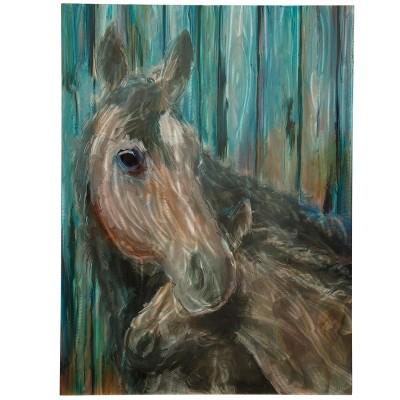 30  Momma and Foal Alternative Equestrian Farmhouse Decorative Wall Art - StyleCraft