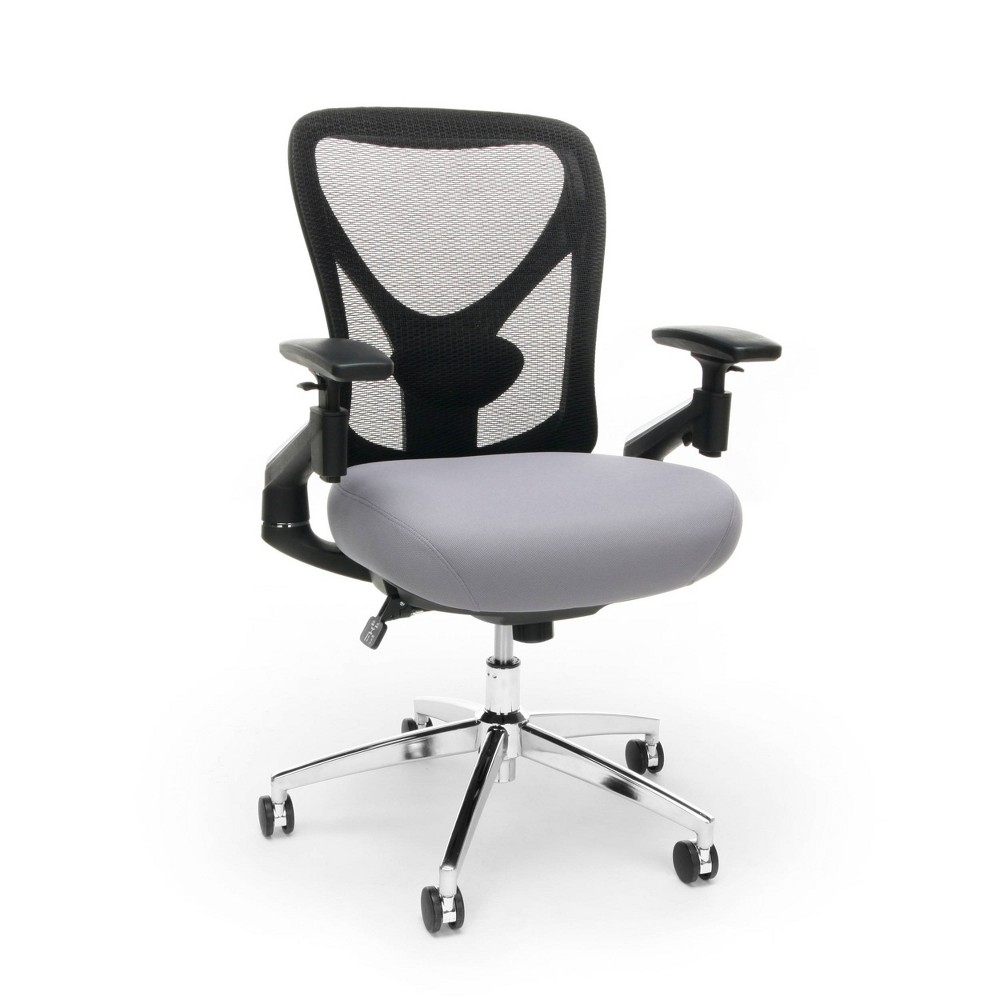 Image of 24 Hour Big and Tall Mesh Back Office Chair Gray - OFM