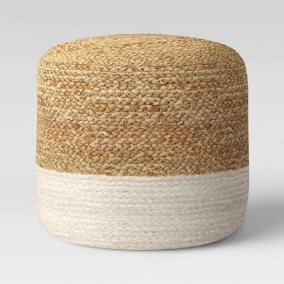Jada Woven Pouf White - Opalhouse™