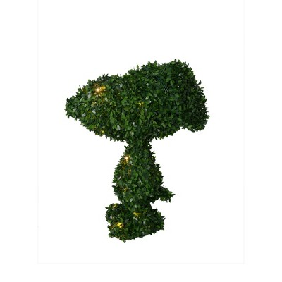 """Productworks 24"""" Topiary Peanuts, Snoopy Ears Down, 30 Lights Knock Down"""