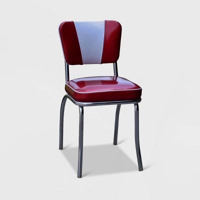 V - Back Diner Chair Zodiac Burgundy - Richardson Seating