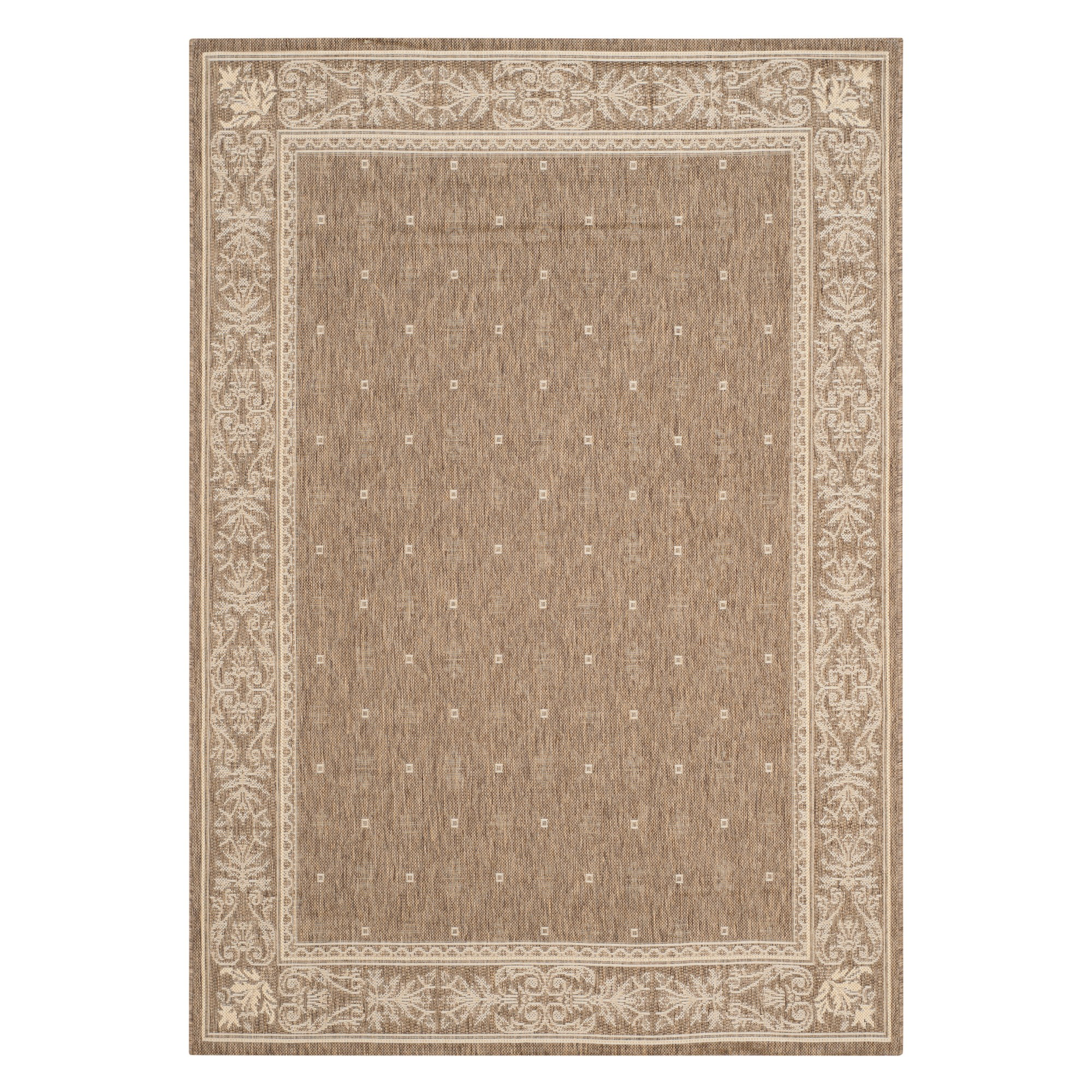 '6'7''X9'6'' Rectangle Herning Outdoor Rug Brown/Natural - Safavieh, Size: 6'7'' X 9'6'', Brown / Natural'