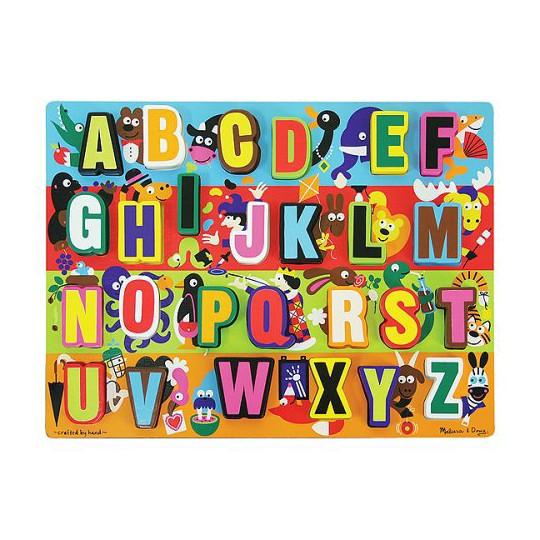 Melissa & Doug Jumbo ABC Wooden Chunky Puzzle (26pc) image number null