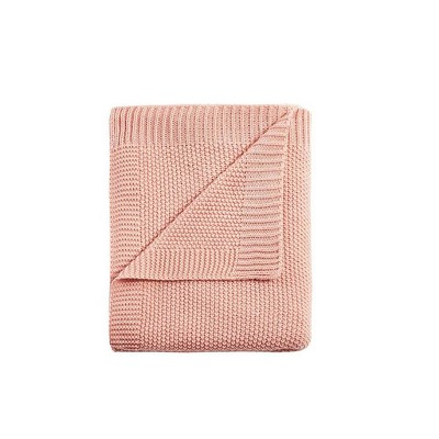 Full/Queen Bree Knit Bed Blanket Coral