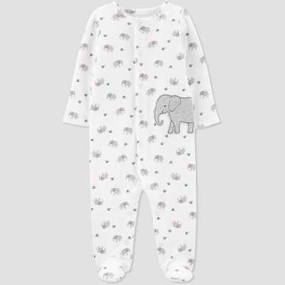Babys' Elephant Interlock Sleep 'N Play - Just One You® made by carter's White 6M