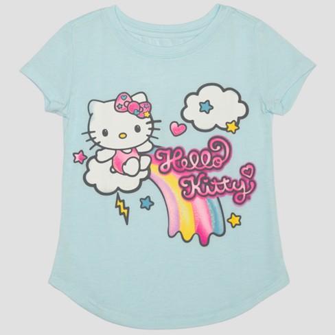 b4dac780a7301 Toddler Girls  Hello Kitty Short Sleeve T-Shirt - Blue   Target