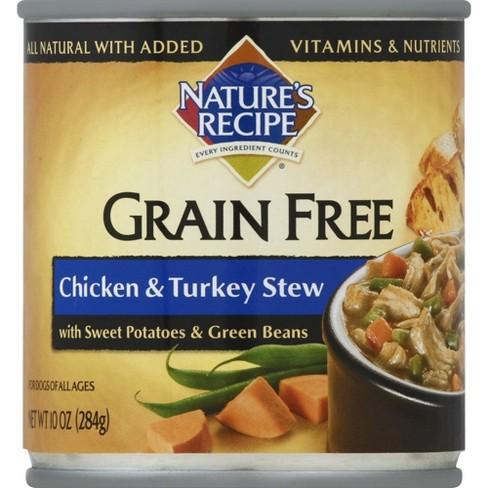 Natures Recipe Grain Free Wet Dog Food Chicken Turkey Stew