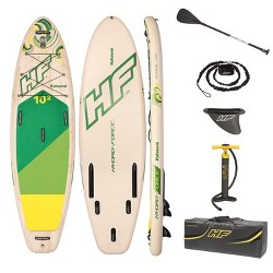 Bestway Hydro Force Kahawai 10 Foot Inflatable SUP Paddle Board Package w/ Pump