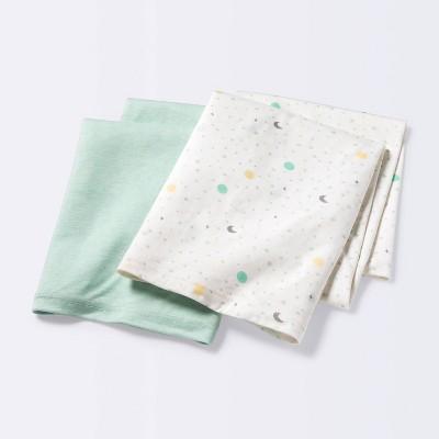 Jersey Swaddle Blanket Space/Mint - Cloud Island™ 2pk