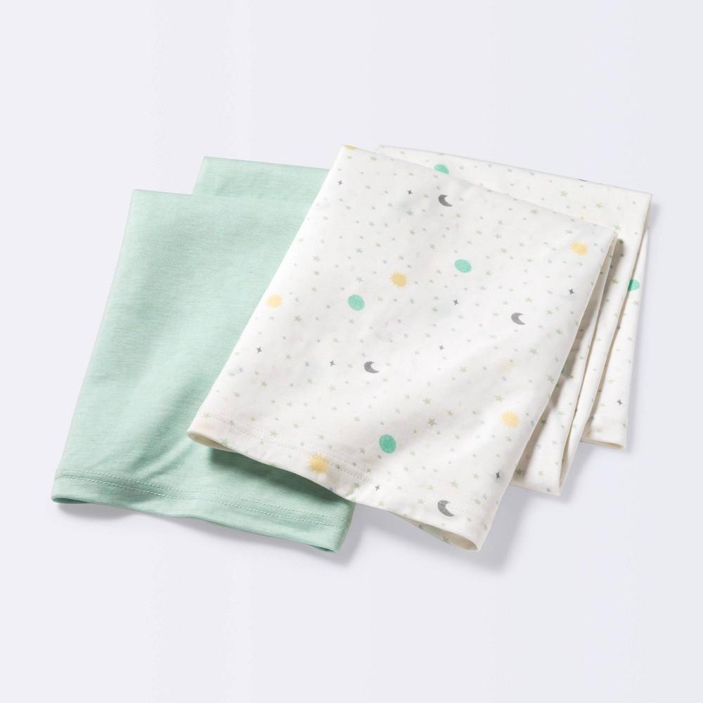 Jersey Swaddle Blanket Space Mint Cloud Island 8482 2pk