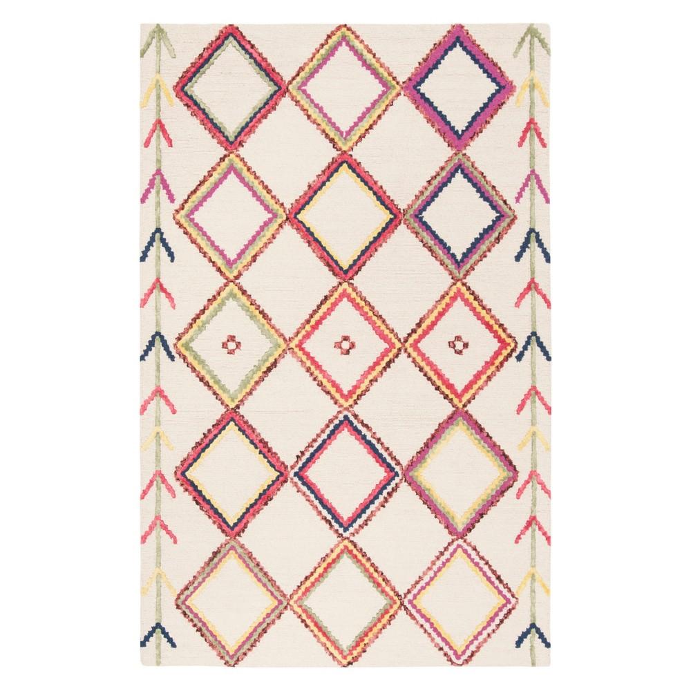 6'X9' Geometric Tufted Area Rug Ivory - Safavieh, Ivory/Multi-Colored