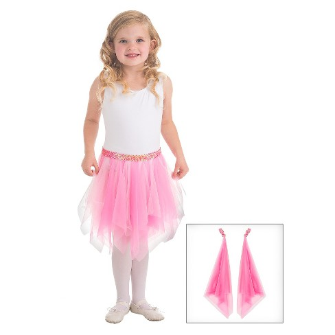 Little Adventures Fairy Tutu and Wrist Scarves Pink - image 1 of 1