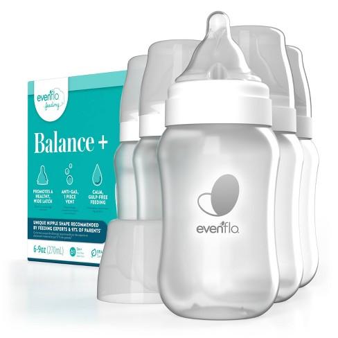 Evenflo Balance Wide-Neck Anti-Colic Baby Bottles - 9oz - image 1 of 4