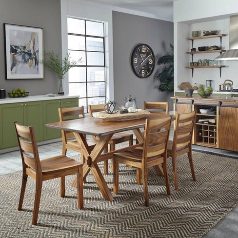7pc Forest Retreat Dining Table Set Brown - Home Styles - image 1 of 4