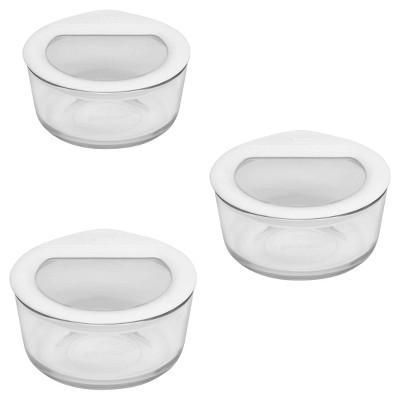 Pyrex 6pc Glass Ultimate Storage Set White