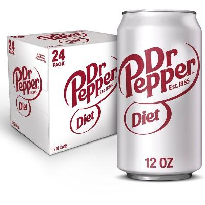 Diet Dr Pepper Soda - 24pk/12 fl oz Cans