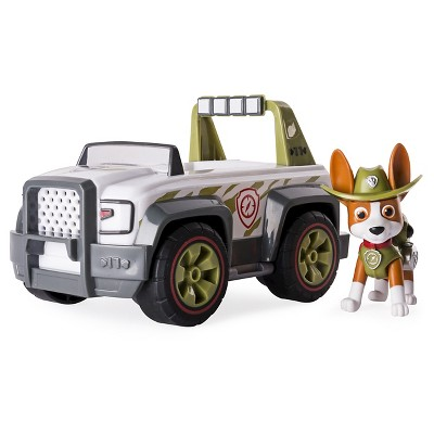 Paw Patrol Jungle Rescue, Tracker's Jungle Cruiser Vehicle And Figure by Paw Patrol
